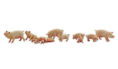 Woodland Scenics A2218 N Train Figures Yorkshire Pigs