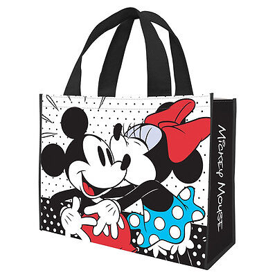 Walt Disney Classic Mickey and Minnie Large Recycled Shopper Tote Bag NEW UNUSED