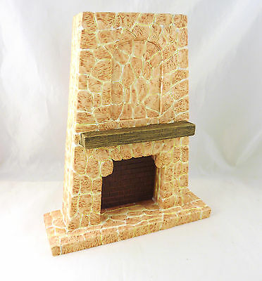 Dollhouse Large Stone Rustic SW Fireplace, Western, YM0898