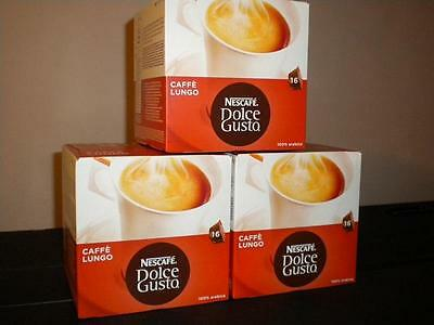 Nescafe Dolce Gusto 48 Caffe Lungo Pods 3 X 16 New