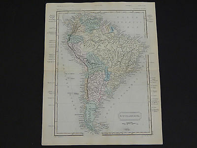 Antique Maps, Samuel Butler c.1863 #03 South America