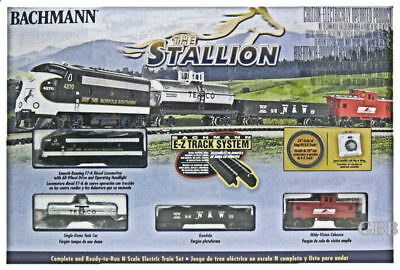 N Scale THE STALLION Complete Freight Train Set Bachmann New in Box 24025