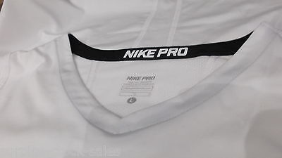 Nike Pro Ss Top White 11-12  Dri Fit Combat Martial  Boxing Underwear Rrp £18.99