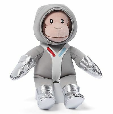 New CURIOUS GEORGE Plush Toy Stuffed Animal GUND Silver Astronaunt MONKEY Outfit