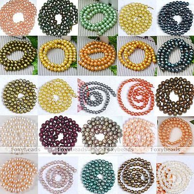 5-9mm Cultured Freshwater Round Luster Pearl Loose Beads Charms Fit Jewelry DIY