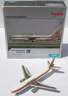Continental Airline Airbus A300 B4 Herpa 514378 1:500 OVP