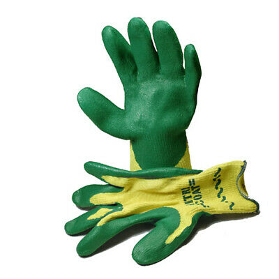 Atlas KV350 Made with Kevlar Nitrile Coated Green Work Gloves, Small 1 Pair