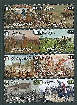 Isle Of Man 2015 Battle Of Waterloo Set Of 8, Unmounted Mint