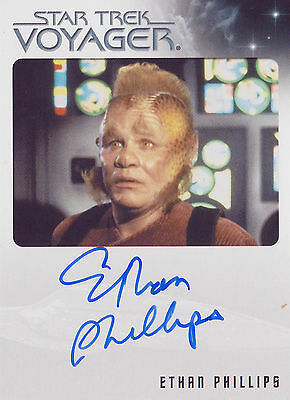 Star Trek Voyager Heroes & Villains Ethan Phillips Autograph Card