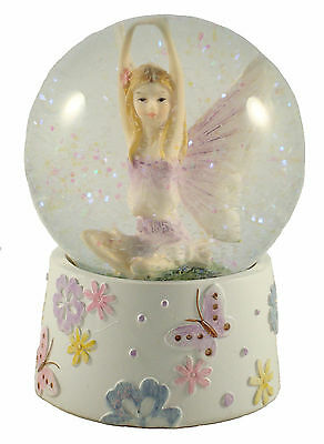 Beautiful Fairy Snowglobe ~ Glitter Water Ball  ~ Lilac ~ Fairies & Butterflies