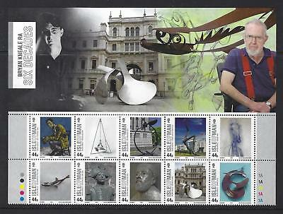 Isle Of Man 2015 Brian Kneale Artist Top Of The Sheet Unmounted Mint, Mnh