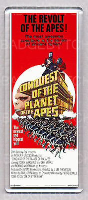 CONQUEST OF THE PLANET OF THE APES LARGE 'wide' FRIDGE MAGNET  -CLASSIC!