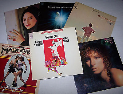 Vintage Lot of 6 Barbra Streisand LP Record Albums - Christmas, People, Wet ...