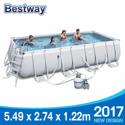Bestway Steel Frame Above Ground Swimming Pool 18ft 5.5m 56468 Sand Filter PUmp