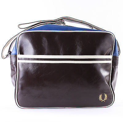 Fred Perry Classic L5251 Shoulder Unisex Zip Synthetic Messenger Bags Chocolate