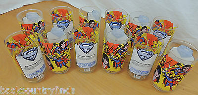 Vintage 1978 Lot of 12 Superman The Movie Pepsi 16 oz Glass Saves the Day