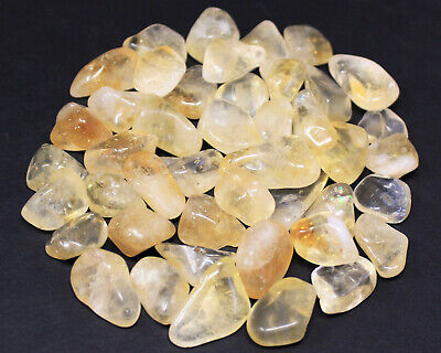 2 Ounce Lot Citrine Tumbled Stone (Crystal Healing Gemstone Chakra) US Seller