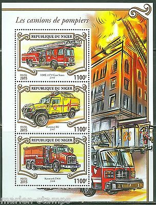 Niger  2015 Fire Engines Sheet Mint  Nh