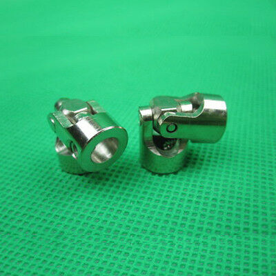 2Pcs 5mm x 5mm Shaft Coupling Motor connector Stainless Steel Universal Joint