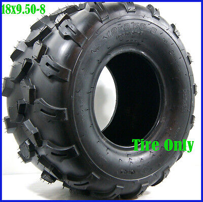 18x9.50-8 Tubeless 8'' REAR Tyre Tire ATV Quad/Buggy/Ride on Mower Gokart TA