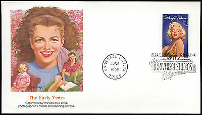 USA 1995 Marilyn Monroe, The Early Years FDC First Day Cover #C26446