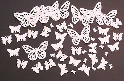 100 PASTEL BRIGHT BLACK WHITE BUTTERFLY CONFETTI 160gsm CARD STOCK plus 50 FREE