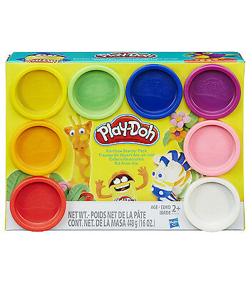 New Hasbro Play-Doh Rainbow Starter Pack 8 Cans A7923 Playdoh