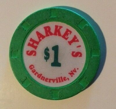 Sharkey's $1.00 Hat & Cane Mold Casino Chip Gardnerville Nevada