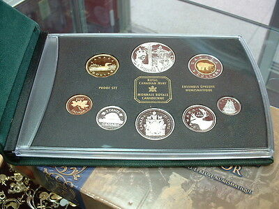 CANADA  2002   PROOF DOUBLE DOLLAR  SET  ***8 COINS***