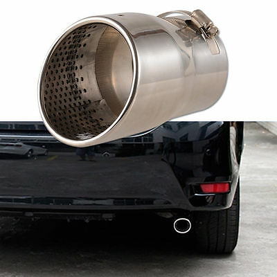 3.5'' Car Exhaust Pipe Tip Muffler Vehicle Stainless Steel Chrome Pipes Trim UK