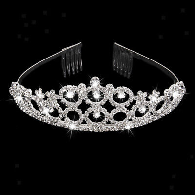 Wedding Bridal Crystal Rhinestone Headband Crown Comb Prom Pageant Tiara
