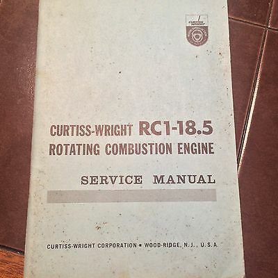 Curtiss-Wright Wankel Engine RC1-18.5 Service Manual
