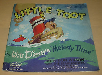 Walt Disney's Little Toot  78 Rpm Record With Story Sleeve  Capitol  Das-80 1948