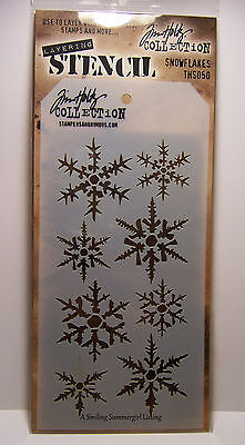 Snowflake Winter Design Layering Stencil -Works great with Ink, Paint & Glitter!