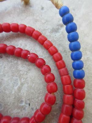 Red African Masai Beads