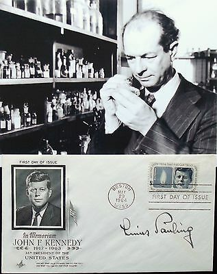 Linus Pauling Noted Chemist Signed Cover Awarded Nobel Prize Chemistry 1954