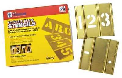 REESE INTERLOCKING STENCILS 10006 Stencil, Numbers, Brass, 1/2in.W x 1/2in.H