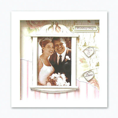 Stunning Scrapbook Embellished Cover ~ WEDDING DAY' Photo Picture Frame
