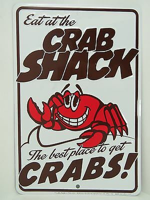 8 X 12 Crab Shack Aluminum Stamped Sign Nautical Maritime Beach Decor