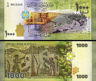 Syria 1000 1,000 Pounds 2013 Unc P.new