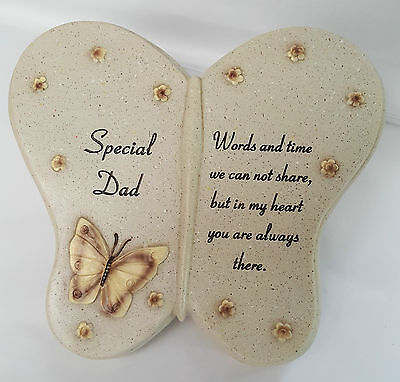 Special Dad Resin Butterfly Book For Grave Or Memorial