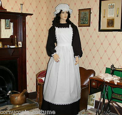 Ladies Victorian  or Edwardian 4pc parlour maid costume fancy dress