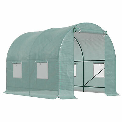 250x200x200 Dome Polytunnel Greenhouse Poly Tunnel Green House Galvanized Frame