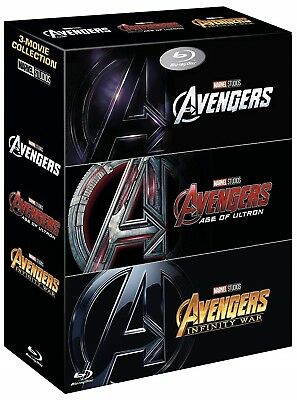 Marvel's Avengers 1-3 (2012-2018) Assemble+Age Of Ultron+Infinity War Blu-Ray