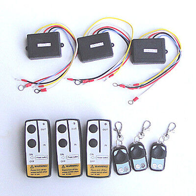 3 Wireless Winch Remote Control Set 12V For Car Truck ATV SUV Jeep Warn Ramsey