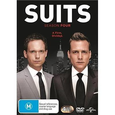 SUITS Season 4 (DVD, 2015, 4-Disc Set) NEW