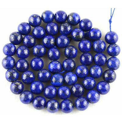 4-12mm Natural Lapis Lazuli Gemstone Round Jewerly Charms Loose Spacer Beads DIY