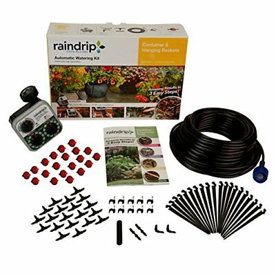 Raindrip R560DP Automatic Container and Hanging Baskets Kit New