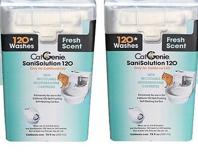 CatGenie 120 Self-Cleaning Litter Box Sani Solution Refill Package