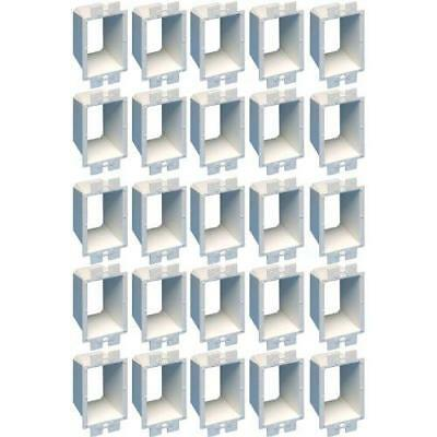 Arlington BE1-25 Electrical Outlet Box Extender, 1-Gang, White, 25-Pack New